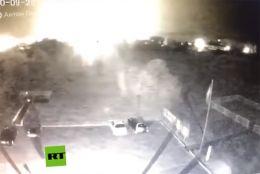 Tragedia en Ucrania: El momento en que cae el avión militar