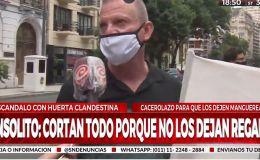 Prohibido regar: Marcha en Barrio Norte
