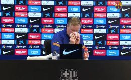 DT del Barça abandona conferencia por sangrado en la nariz